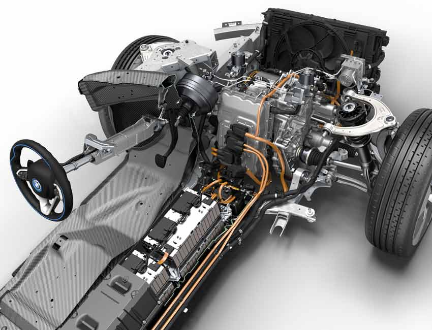 BMW i8 Plug-in Hybrid Coupe Performance Electric Engine