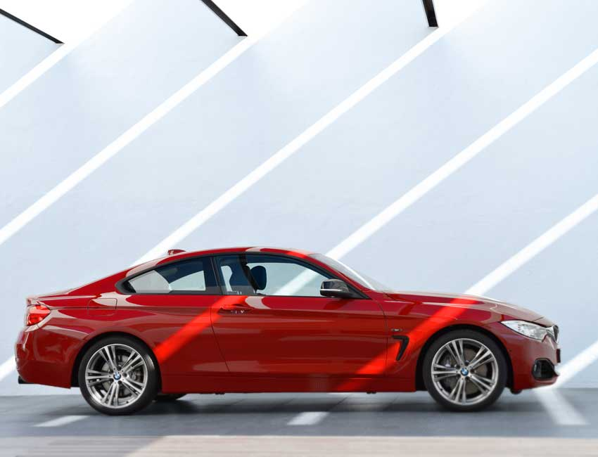 Side view of bmw 435i