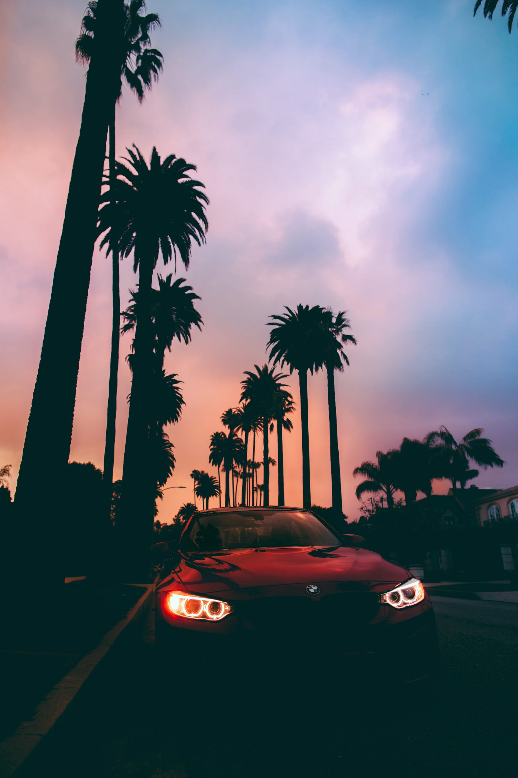 bmw m4 in sunset